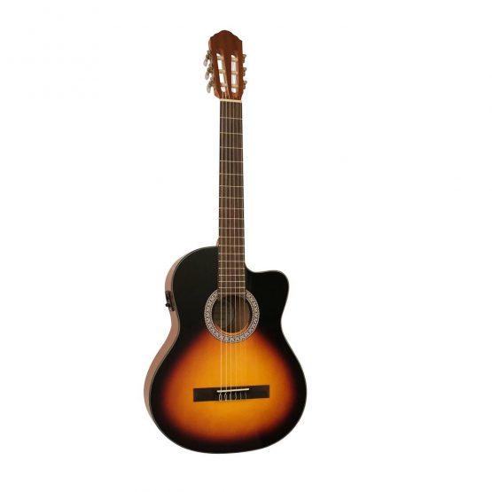 Santana B8 med indbygget tuner og pickup, hos www.guitaristen.dk