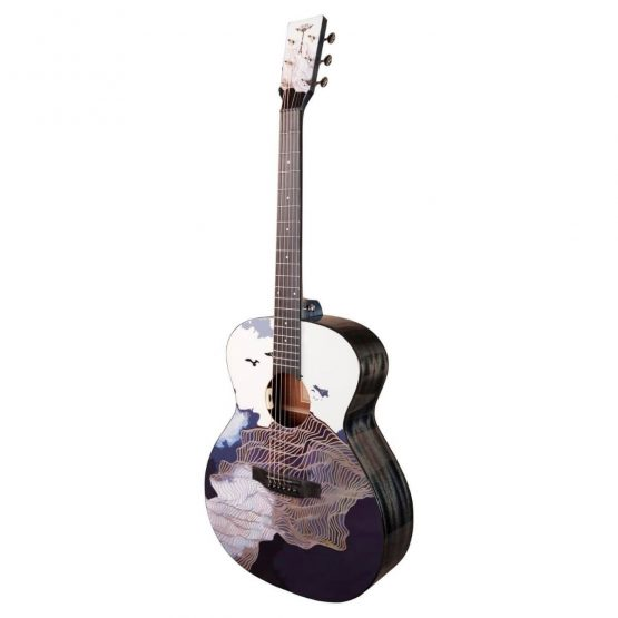 Tyma Guitar med kunstnerisk motiv hos www.guitaristen.dk