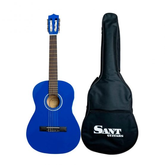 Sant Guitars - 37€ Guitar i Farven blå hos www.guitaristen.dk
